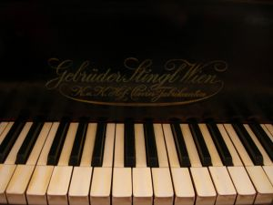 Image of old german piano