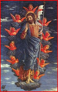 Ascension (about 1460) by Andrea Mantegna.