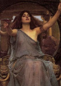 Circe Offering the Cup to Odysseus, by John William Waterhouse. 1891.
