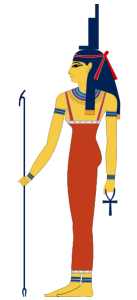 Isis is the Egyptian goddess of motherhood, magic and fertility.
