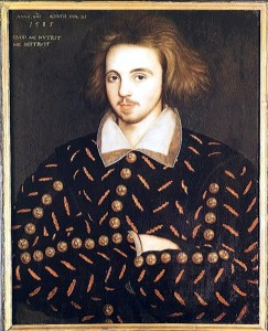 Purported portrait of Christopher Marlowe