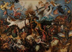 The Fall of the Rebel Angels. 1562. Pieter Brueghel the Elder (1526/1530–1569).