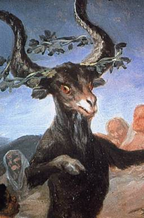 Witches Sabbat (1789). Francisco de Goya. Pagan horned god demonized by the Church as the Devil.