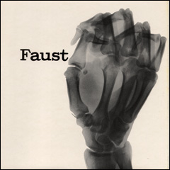 Cover of the album Faust/Clear. An xray of a raised fist