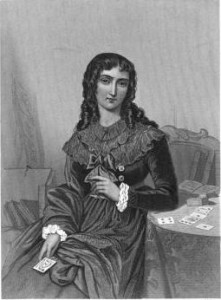 "Marie-Anne Lenormand. ""...taken from an engraving at the Bibliotheque Imperiale, in Paris, believed to be the only authentic likeness of her in existence."" From <a href=""http://books.google.com/books?id=aIEvAAAAMAAJ&pg=PA320#v=onepage&q&f=false"" target=""_blank"">The Court of Napoleon</a> by Frank Boott Goodrich."