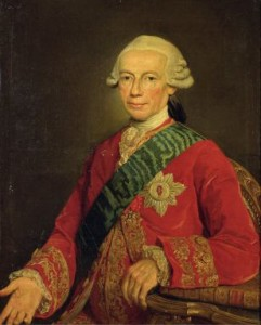 <strong>Count Claude-Louis-Robert de Saint-Germain (1707?-78/84?)</strong>: An older Saint-Germain, by Jean Joseph Taillasson, painted in 1777, when the Count was about 70 years old.