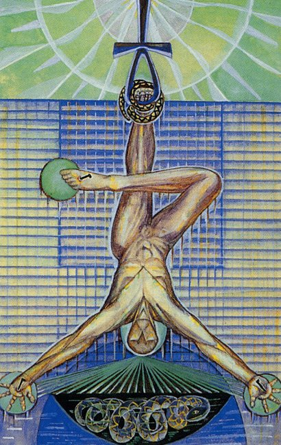 The Hanged Man Predictive Tarot Card Meanings: Faust